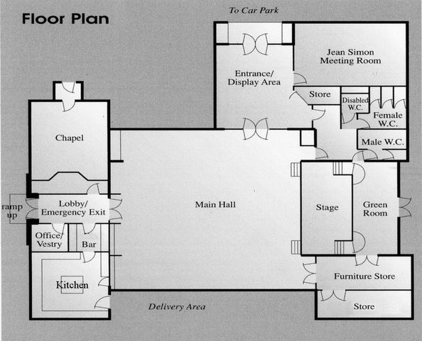 Colwall Village Hall Floor Plan